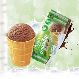 Мороженое Белая Бяроза шоколад пломбир вафельный стаканчик 70г