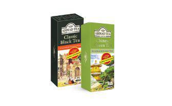 Чай чорний Класичний 25*2 г, зелений Китайський 25*1,8 г Ахмад