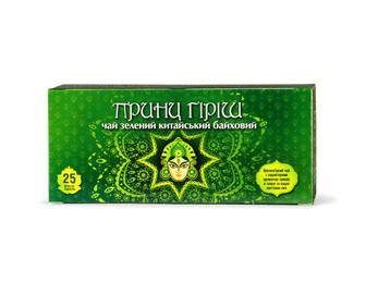 Скидка 33% ▷ Чай зелений Принц Гіріш, Повна Чаша, 25×2 г