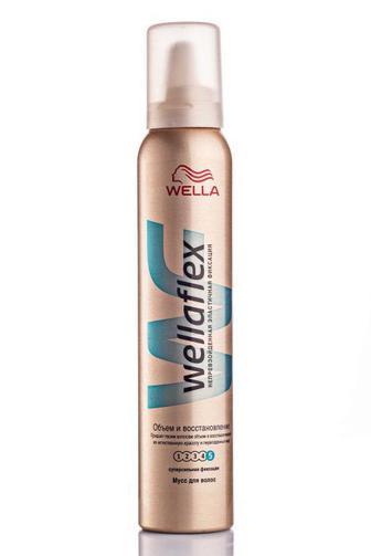 Мусс для волос Wellaflex супер сильной фиксации Объем и восстановление 200 мл