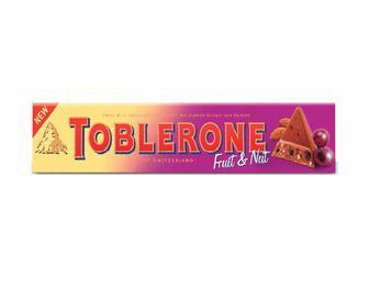 Шоколад Toblerone молочний з родзинками і з нугою з меду та мигдалю, 100 г