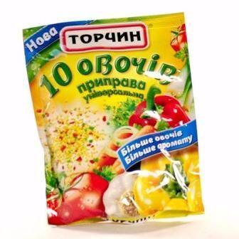 Приправа 10 овочів Торчин,190г