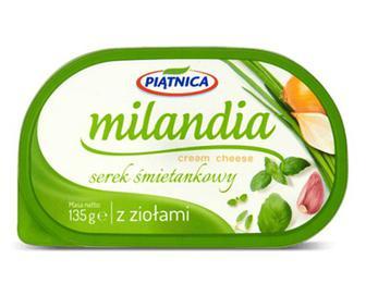 Сир Piatnica Milandia з травами, 62% жиру, 135г