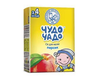 Сік для малят «Чудо-Чадо» персик, 200мл