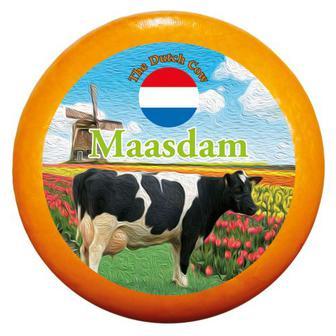 Сир Маасдам 48% Dutch Cow Нідерланди ваг