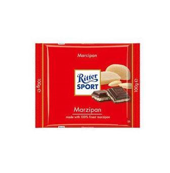 Шоколад молочний з ромом, лісовими горіхами, карамель-мусс, чорний з марципаном або екстрачорний Ritter Sport 100 г