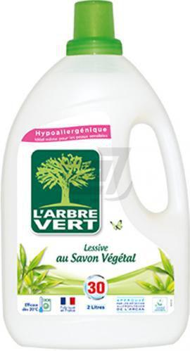 Рідкий засіб для машинного прання L'Arbre Vert Рослинне мило 30 використань 2 л