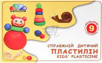 Пластилін Улюблені іграшки 9 кольорів 331026 Гамма