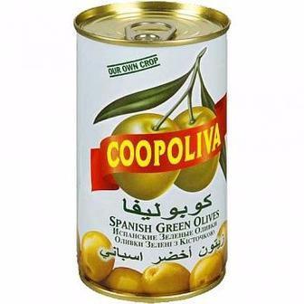 Оливки/Маслини з кісточками 370мл 350мл Copoliva
