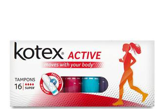 Тампони Kotex Active Super, 16шт./уп