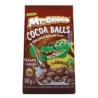 Кукурудзяні кульки з какао Mr. Croco 500 г