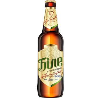 Пиво світле нефільтроване Чернігівське Біле 0,5л