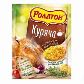 Скидка 24% ▷ Приправа Роллтон Куряча/12 овочів і трав гранульована універсальна 60г