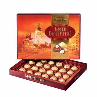 Цукерки Київ Вечірній/Chocolateria Roshen 176г 194г