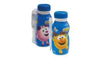 Йогурт питний 1,4% малина-ваніль,пломбір Смішарики 185 г