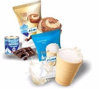 Морозиво класичне біле, з шоколадним смаком та згущеним молоком 60г ЛІмо