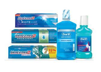 Зубні пасти Blend-a-med 3D White, Pro-Expert, Комплекс 100 мл/125мл Ополіскувачі ротовоі порожнини 250 мл/500мл Oral-B