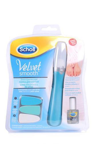 Электрическая роликовая пилка Scholl Velvet Smooth для ногтей со сменными насадками с маслом 1шт