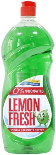 Засіб для ручного миття посуду Gold Drop Lemon Fresh зелений 1,5л