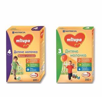 Дитяче молочко Milupa 3, 4