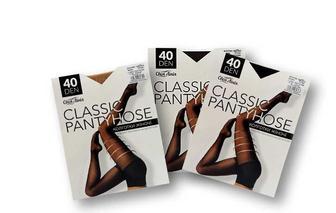 Колготки жіночі Classic pantyhose, 40 ден, беж./чорн./ капуч., р. 2/3/4/5 Своя Лінія