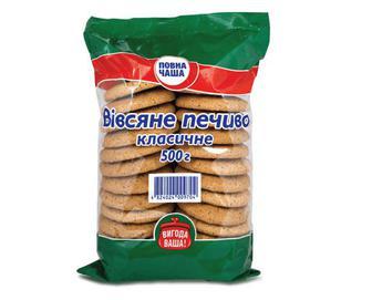 Печиво вівсяне класичне «Повна Чаша»® 500г