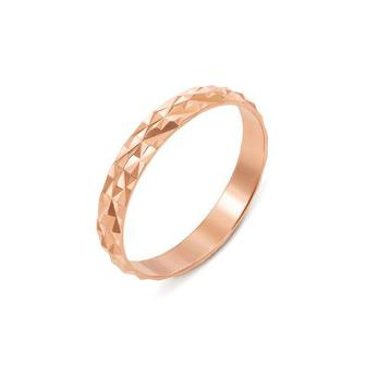 Обручальное кольцо с алмазной гранью. Артикул 1097/1