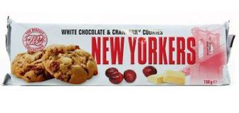Печенье NEW YORKERS белый шоколад & клюква 150г